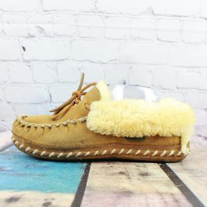 LL BEAN Lined Wicked Good Mocs Slippers Size 8 M